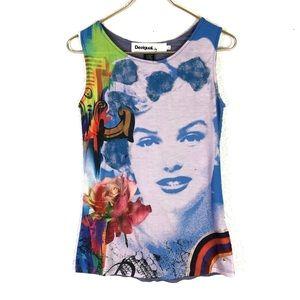Desigual Marilyn Monroe Sleeveless Top